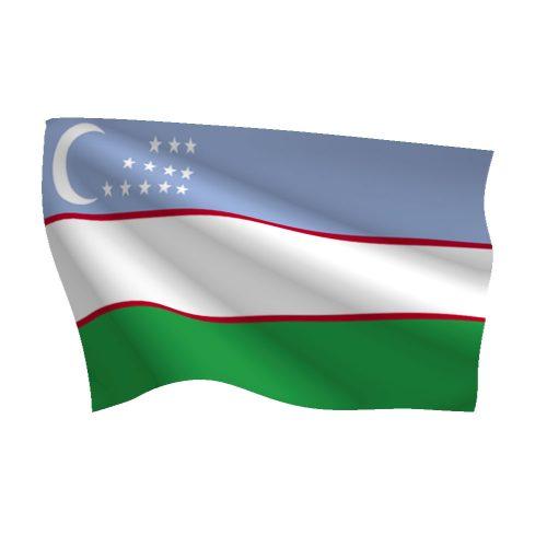 Uzbekistan Flag