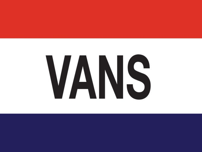 3ft x 5ft Vans Message Flag