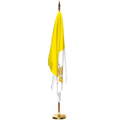 Indoor Vatican City Ceremonial Flag Set