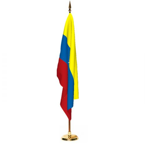 Indoor Venezuela Ceremonial Flag Set