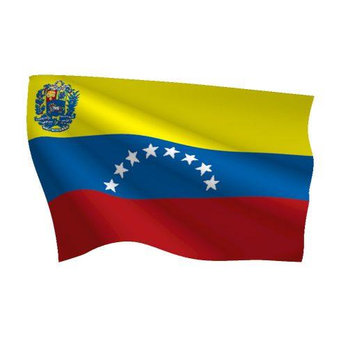 Venezuela with Seal Flag