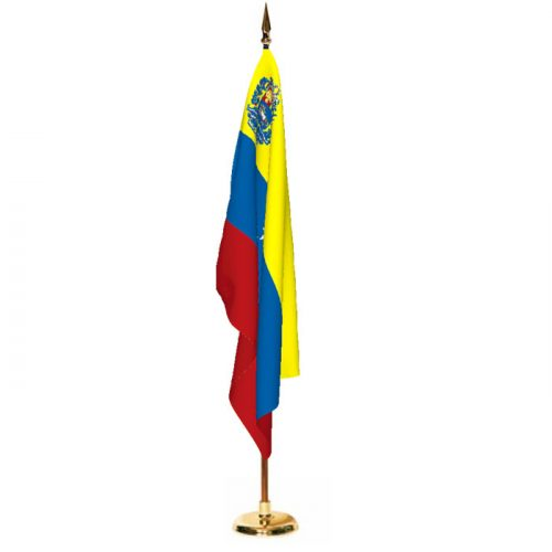 Indoor Venezuela with Seal Ceremonial Flag Set