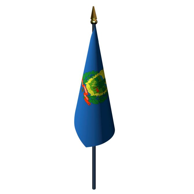 Vermont Flag with Staff and Spear