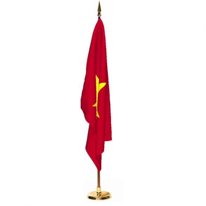 Indoor Vietnam Ceremonial Flag Set