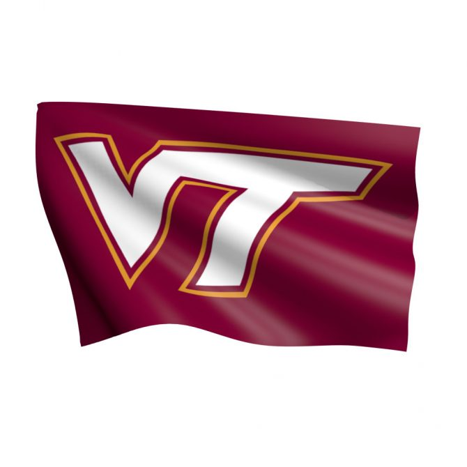 Virginia Tech University Flag