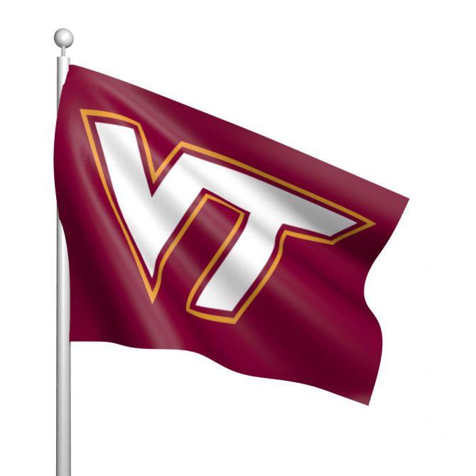 Virginia Tech University Polyester Flag