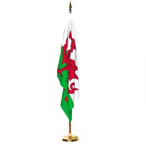 Indoor Wales Ceremonial Flag Set