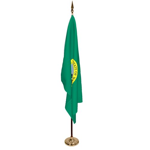 Indoor Washington Ceremonial Flag Set