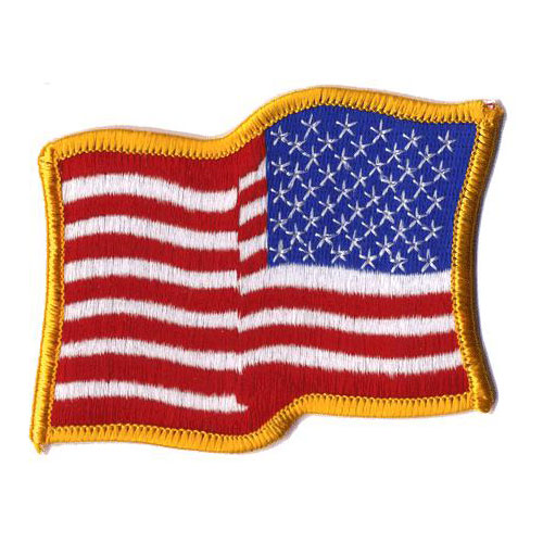 2-1/2in x 4-1/2in Wavy American Flag Right Hand Patch