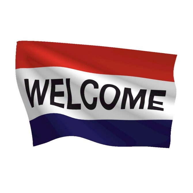 3ft x 5ft Welcome Message Flag