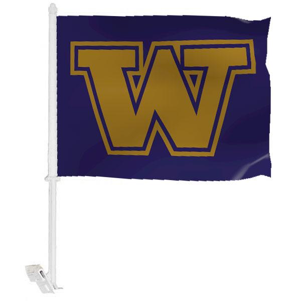 University of Washington Car Window Flag