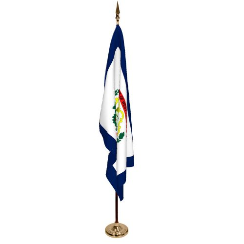 Indoor West Virginia Ceremonial Flag Set