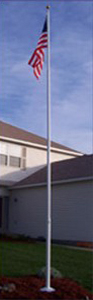 20' White Telescoping Flagpole