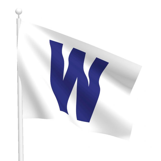 Chicago Cubs Nylon W Flag