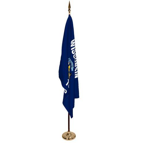Indoor Wisconsin Ceremonial Flag Set