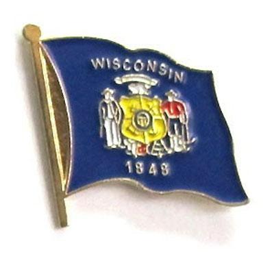 Wisconsin Flag Lapel Pin