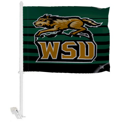 Wright State University Car Window Flag