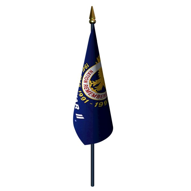 4in x 6in WW II Vet Flag with Staff and Spear