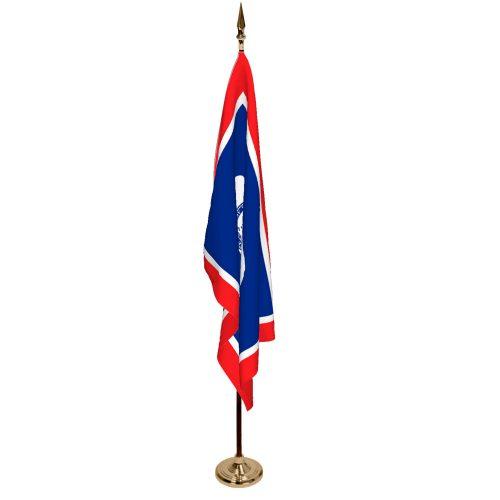 Indoor Wyoming Ceremonial Flag Set