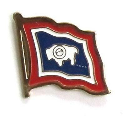 Wyoming Flag Lapel Pin
