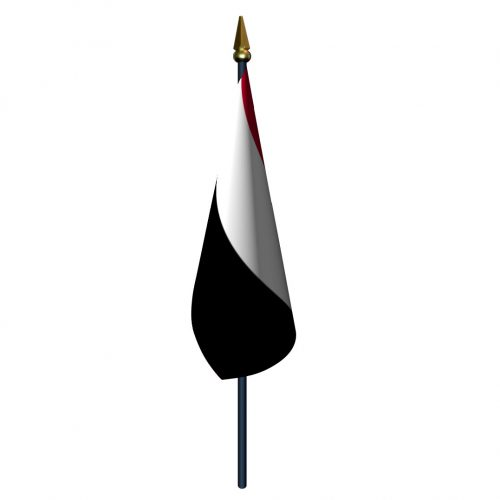 4in x 6in Yemen Flag with Staff and Spear