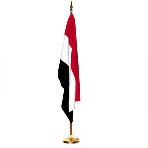 Indoor Yemen Ceremonial Flag Set