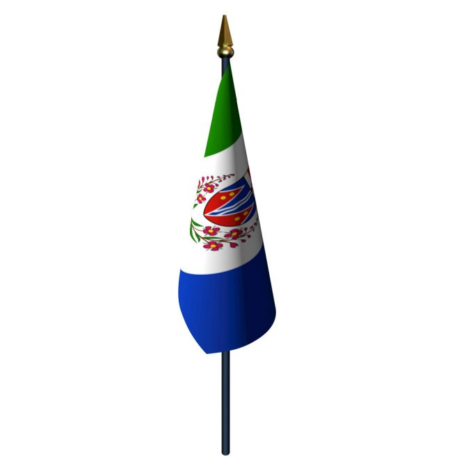 4in x 6in Yukon Flag with Staff and Spear