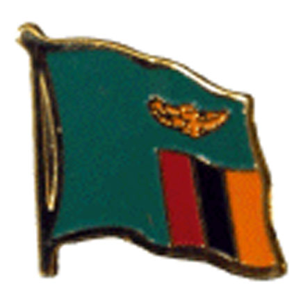 Zambia Flag Lapel Pin