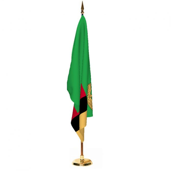 Indoor Zambia Ceremonial Flag Set