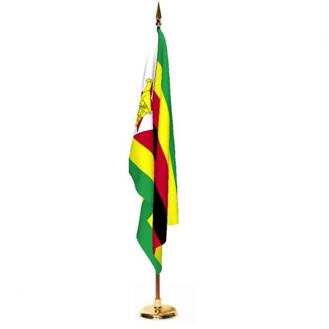 Indoor Zimbabwe Ceremonial Flag Set