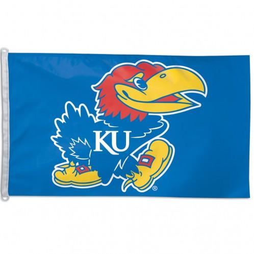 Kansas Jayhawks Polyester Flag