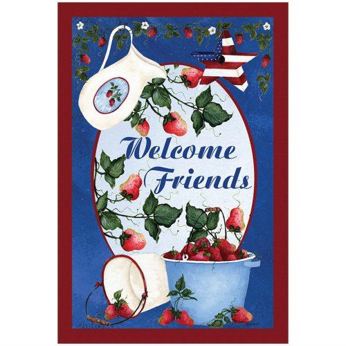 Berries Cream Welcome House & Garden Flag