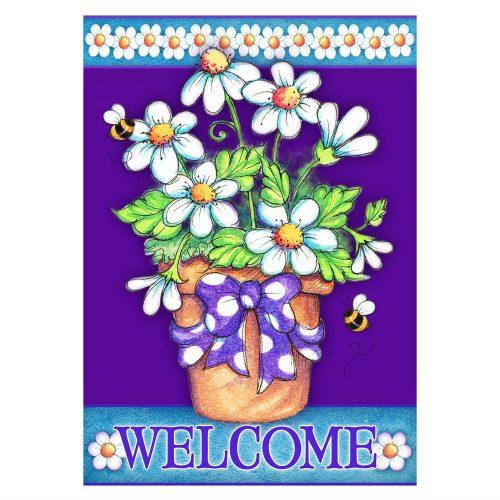 Daisy Welcome House & Garden Flag