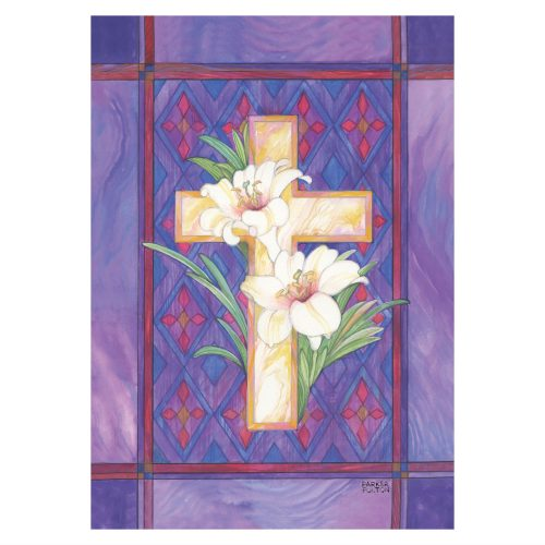 Lily & Cross Garden Flag