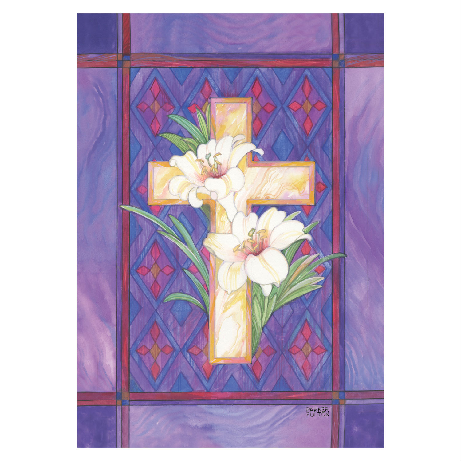 Lily Cross Garden Flag Flags International