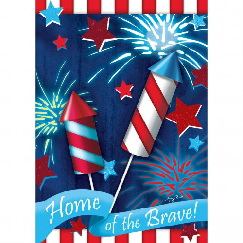 Home of the Brave House and Garden Flag