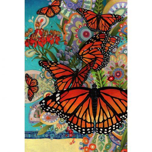 Monarch Madness Garden Flag