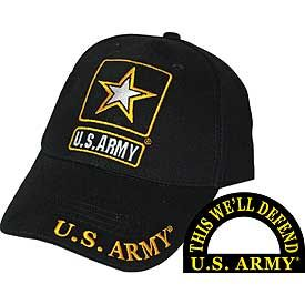 U.S. Army Star Embroidered Hat