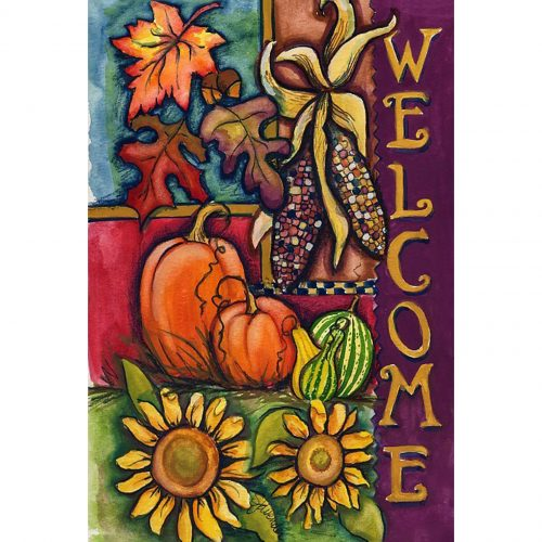 Harvest Welcome Garden & House Flag