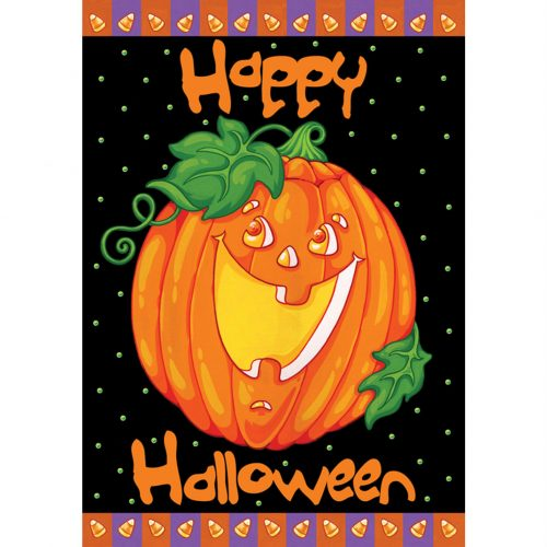 Happy Halloween Jack O' Lantern House Flag