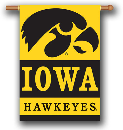Iowa Hawkeyes Polyester 2 Sided Banner