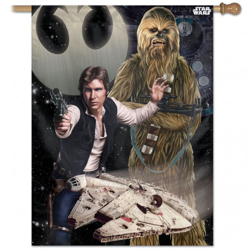 Star Wars Han and Chewbacca Vertical Flag