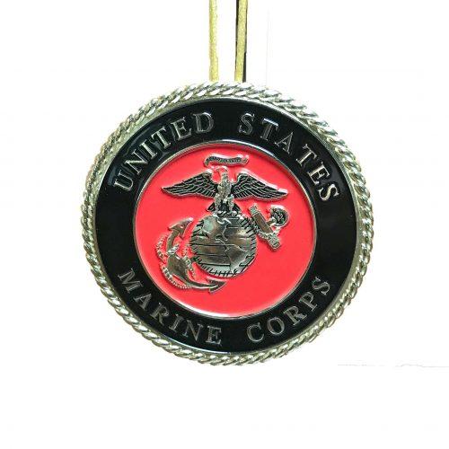 Marine Emblem Christmas Ornament