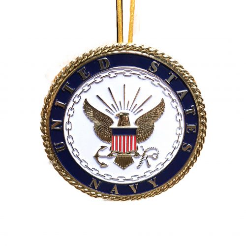Navy Emblem Christmas Ornament