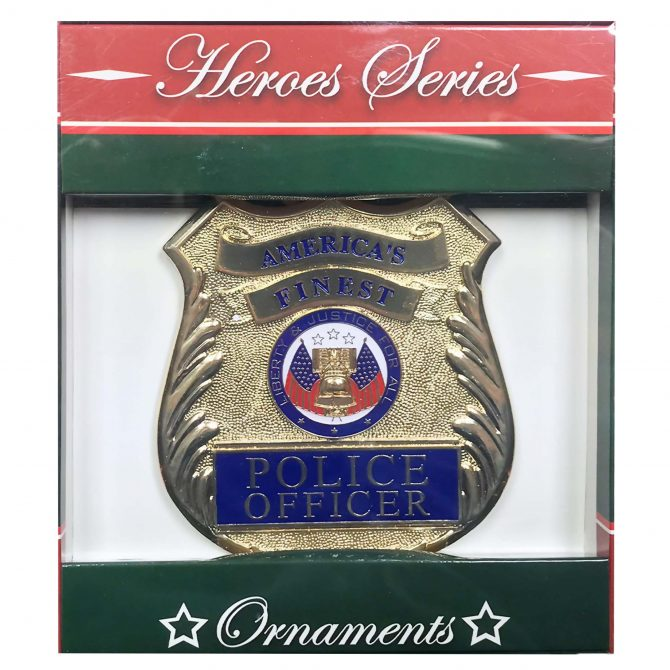 Police Emblem Christmas Ornament