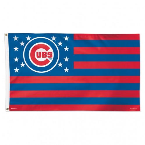 Chicago Cubs Patriotic Flag