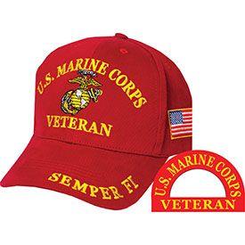 red marine corps vet hat