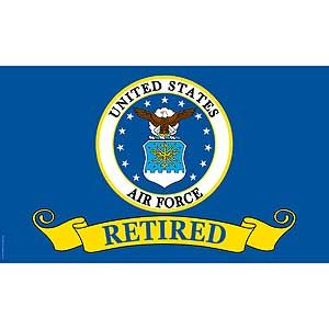 Air Force Retired Poly Flag